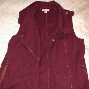 Francesca's Burgundy Vest